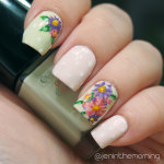 #nailartsep Day 22: Asters Floral Nail Art