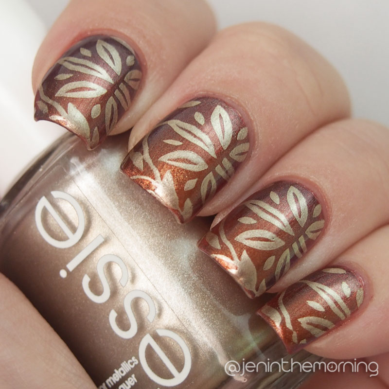 Sally Hansen Copperhead and Essie Good as Gold