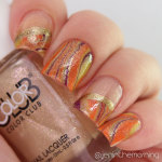 #nailartsep Day 28: Seasonal – Fall Water Marble