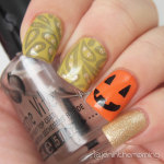 #nailartsep Day 30: Paisley and #npclairestelle8 Day 1: Pumpkins – Mixed bag Skittlette