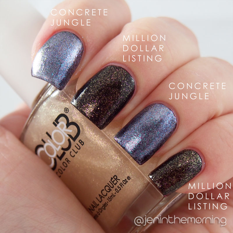 Concrete Jungle and Million Dollar Listing over OPI - I Sing in Color
