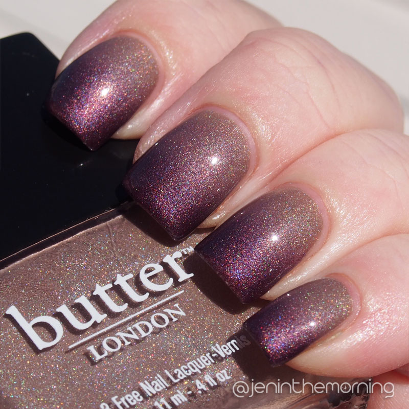 Gradient: China Glaze - When Stars Collide & Butter London - All Hail the Queen (direct sun)