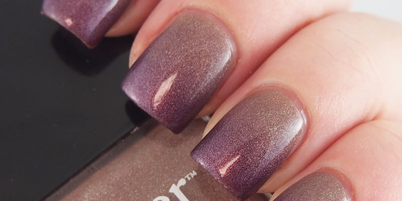 Gradient: China Glaze - When Stars Collide & Butter London - All Hail the Queen