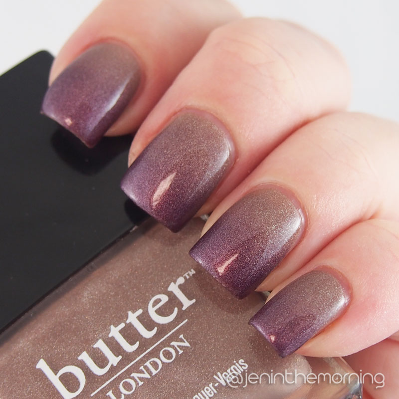 China Glaze and Butter London gradient manicure