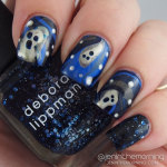 #npclairestelle8 Day 19: Ghosts – Blue-toned Water marble