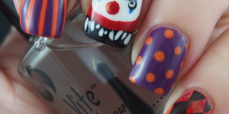 Creepy Clown Manicure