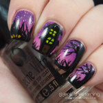 #npclairestelle8 Day 29: Haunted House Nails