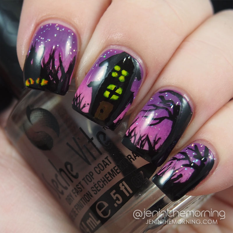 #npclairestelle8: Day 29 Haunted House Mani