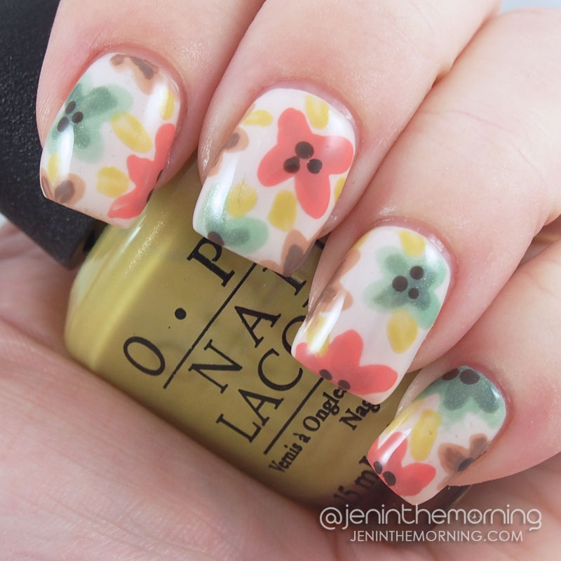 Watercolor Fall Floral
