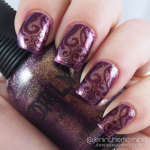 Subtle Stamping over ORLY Oui