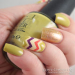 Fall chevron accent nails