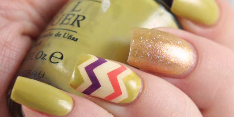 Fall chevron nails