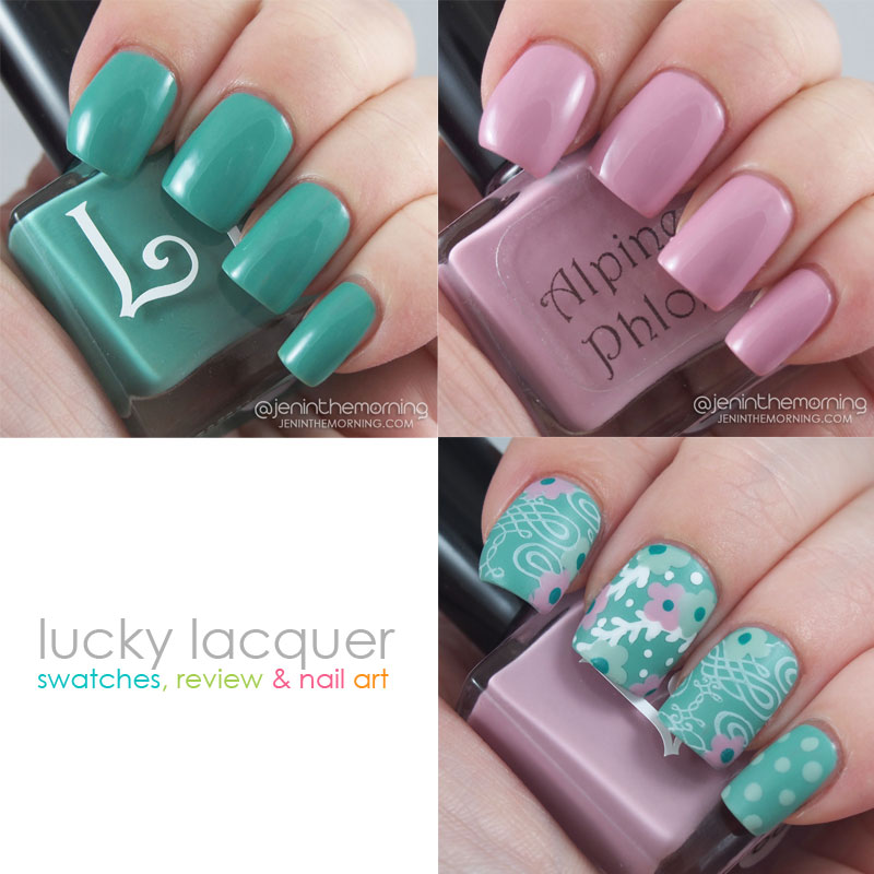 Lucky Lacquer Fleur Collection - Mint Daisy and Alpine Phlox