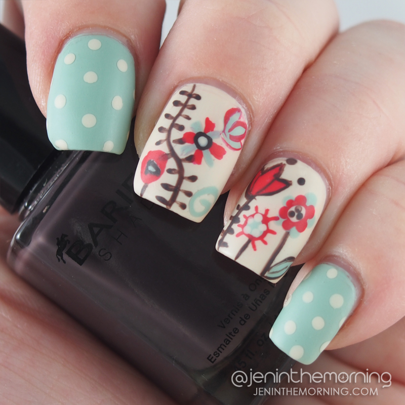 Whimsical floral nails