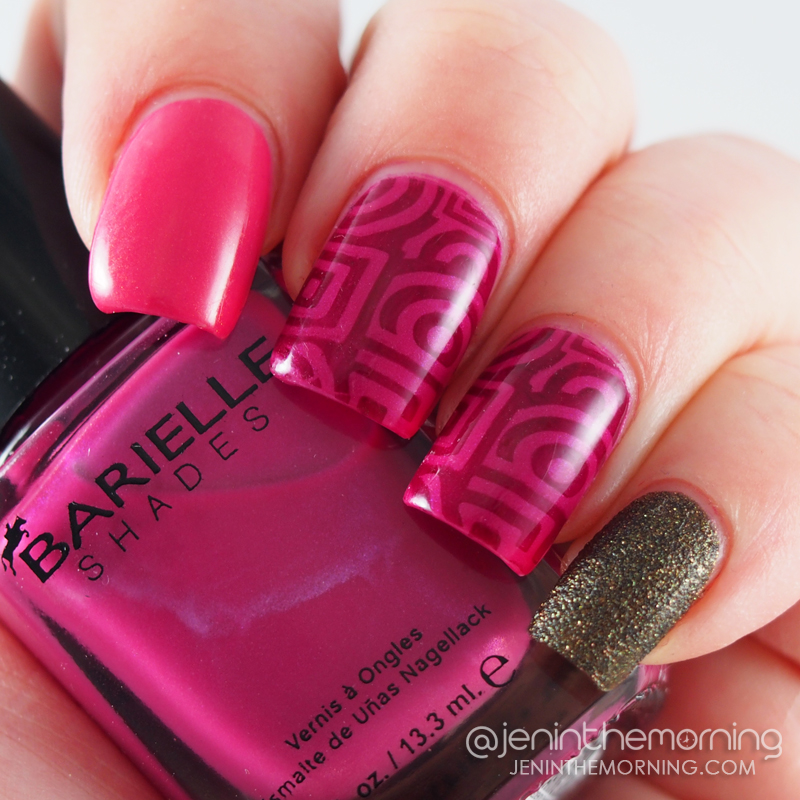 Barielle Geometric Skittlette Nails