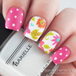 Bright Tropical Floral Nails