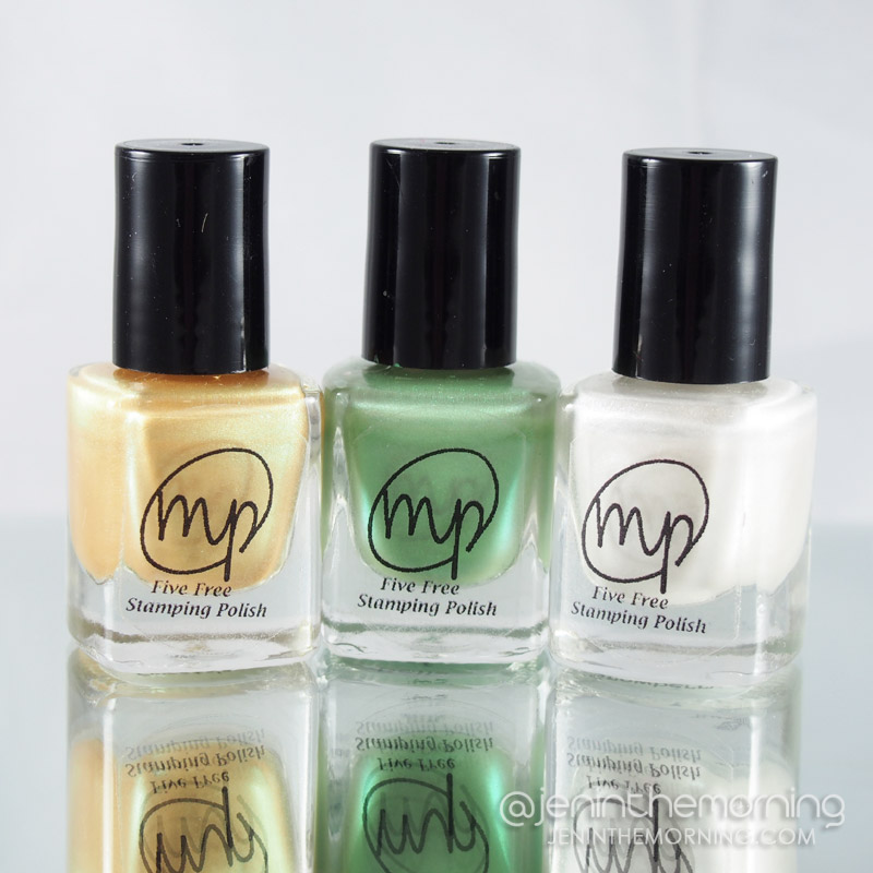 M Polish - Sweetclover, Bells of Ireland, Snowberry