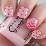 Valentine Nails: Gradient Chevron Dotticure