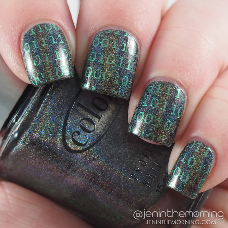 Color Club - Beyond stamped with M Polish - Bells of Ireland