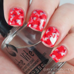 Valentine nails: Stamped Confetti Hearts