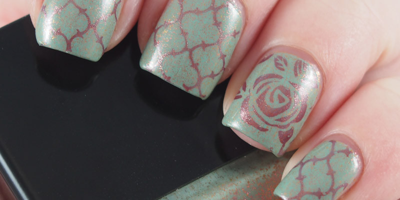 Butter London - Two Fingered Salute stamped with Sally Hansen Copperhead