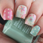 Whimsical Matted Floral Manicure