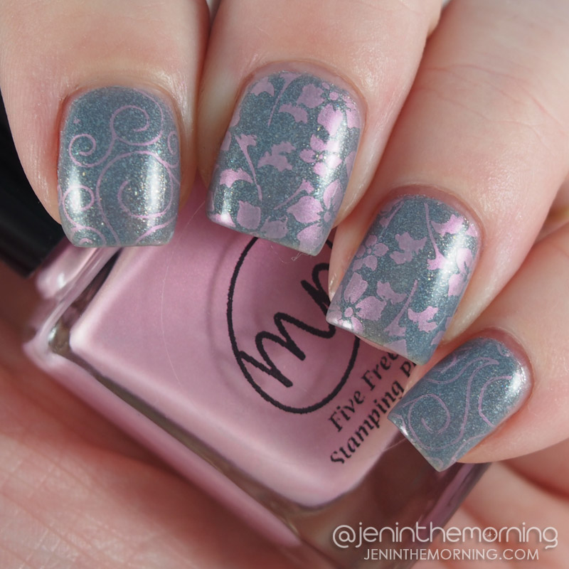 OPI - I Don't Give a Rotterdam, stamped with M Polish - Apple Blossom