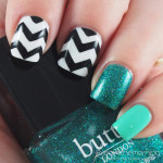 Bold Chevrons with Turquoise Accents