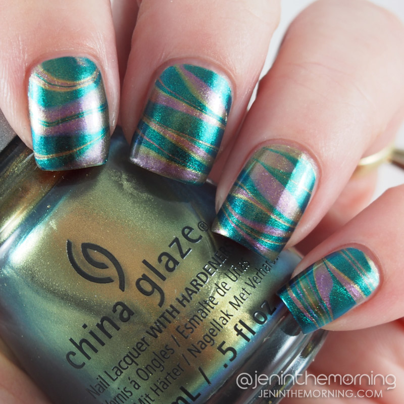 China Glaze duochrome water marble