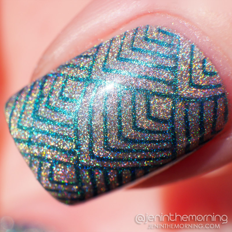 Cult - Coachella stamped with China Glaze - Deviantly Daring