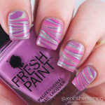 Horizontal Water Marble Over Holographic Polish