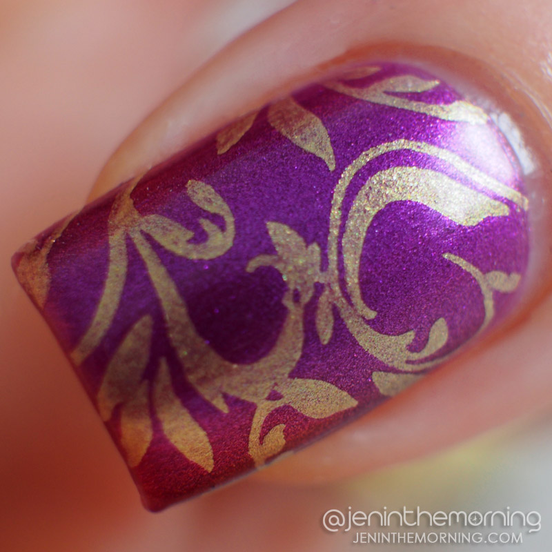 Sinful Colors - Flight to See stamped with M Polish - Apricot Delight