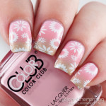 Floral Stamped Pink and Gold Gradient