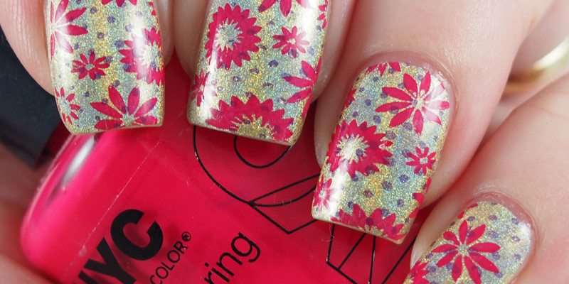 Double stamping over Color Club - Kismet