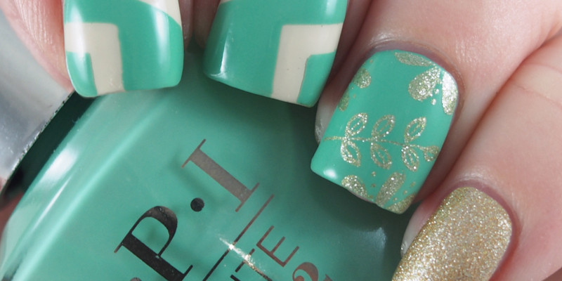 OPI Infinite Shine - Withstands the Test of Thyme nail art