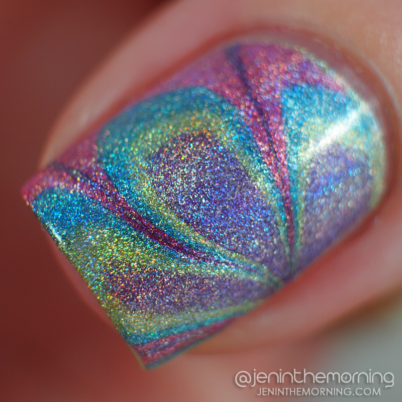 Color Club holographic water marble