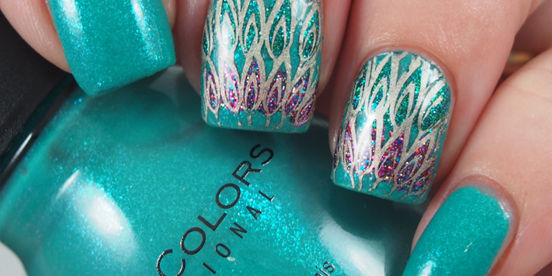 Sinful Colors - Sky Tree with Peacock advanced stamping decal