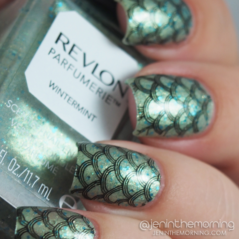 Revlon - Wintermint mermaid scale nails