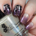 Accent Stamping over Holographic Gradient