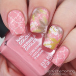 Stamped Floral Nails