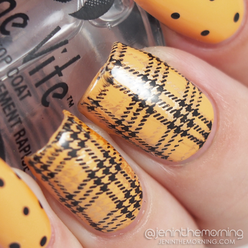 Franken saffron yellow with dots and stamped plaid