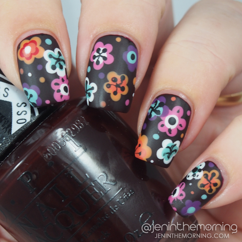 OPI - I Sing in Color with dotted floral design