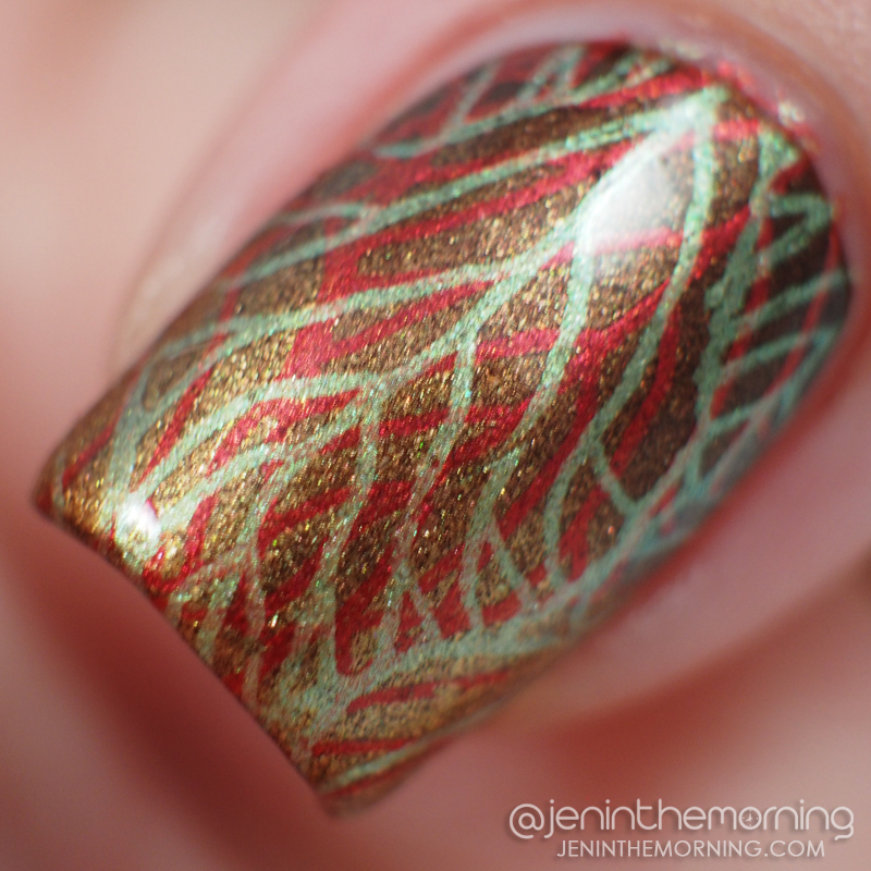 Zoya - Cinnamon with leafy stamping