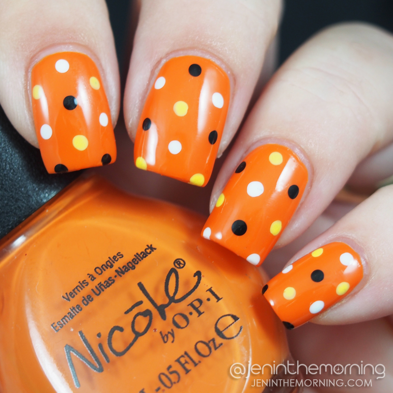 Halloween Dotticure over Nicole by OPI, Fairy Fairy Quite Contrary