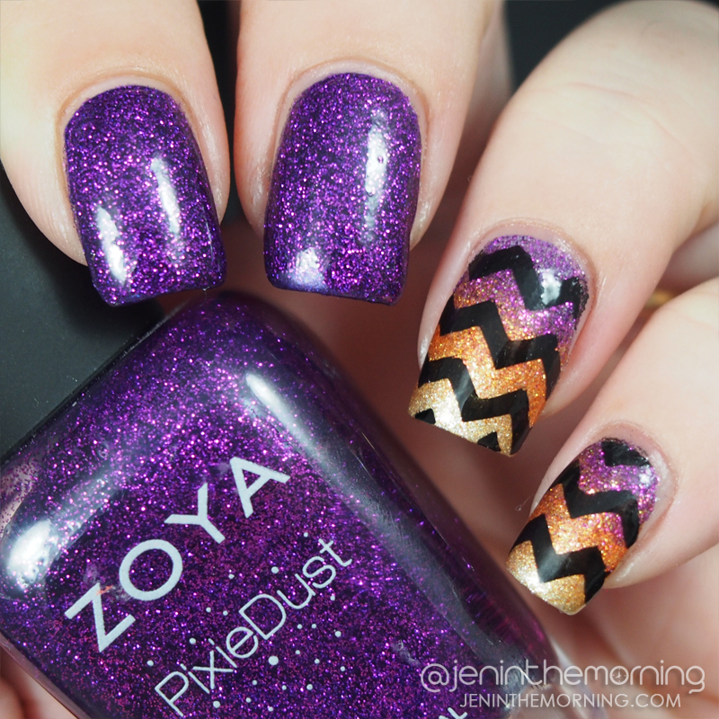 Chevron Gradient Nails