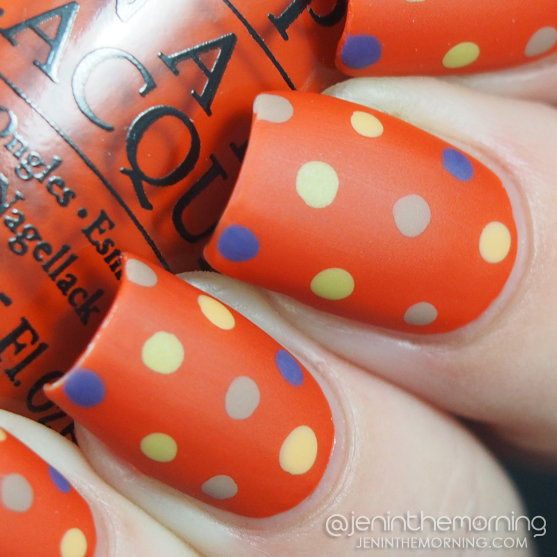 Fall Dotticure featuring OPI - It's a Piazza Cake