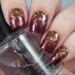 Fiery Metallic Gradient with Stamping