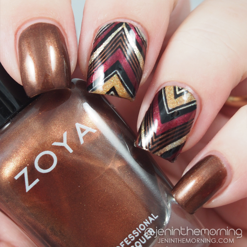 Advanced stamping chevron nails