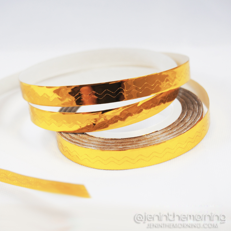 Gold chevron striping tape