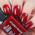 Red Tone on Tone Stamping